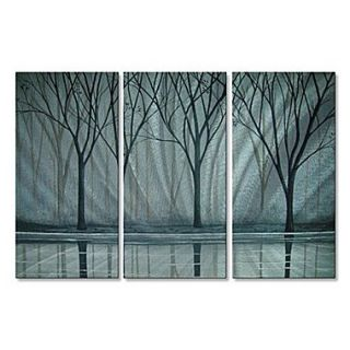 All My Walls Misty River by Peggy Davis 3 Piece Painting Print Plaque Set