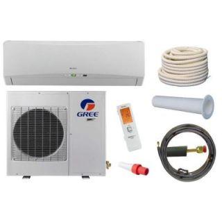 GREE Terra 18,000 BTU 1.5 Ton Ductless Mini Split Air Conditioner and Heat Pump Kit   208 230V/60Hz TERRA18HP2301BKIT
