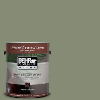BEHR Premium Plus Ultra 1 Gal. #PPU10 17 Aloe Thorn Eggshell Enamel Interior Paint 275301