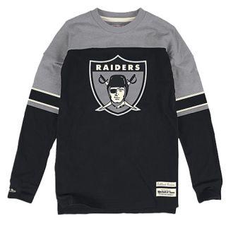 Mitchell & Ness NFL Pump Fake Heavyweight L/S T Shirt   Mens   Football   Clothing   Oakland Raiders   Black