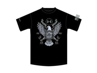 Under Armour Black 2X Large Ua Support The Troops Tee   12687550012X