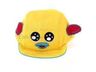 Kid Toddler Baby Cap Hat Casquette Cartoon Cute Girl Boy Fashion yellow