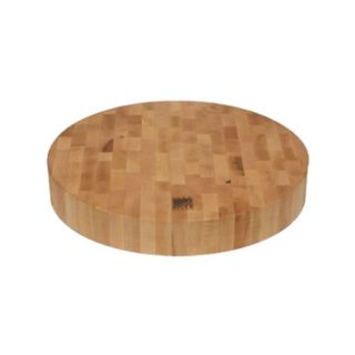 End Grain Round Cutting Board by Snow River