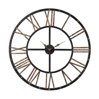 Metal Framed Roman Numeral Open Back Wall Clock   17856669