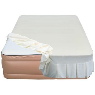 Airtek Raised 22 inch Queen size Memory Foam Airbed with Skirted Sheet
