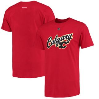 Reebok Sean Monahan Calgary Flames Red Alternate Name and Number T Shirt