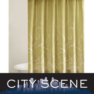 City Scene Bamboo design Shower Curtain   12667874