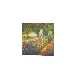 Claude Monet The Artists Garden at Giverny 3D Printed Art Tile