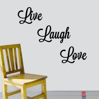 Vinyl Attraction Live, Laugh, Love Vinyl Wall Art