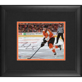 Sean Couturier Philadelphia Flyers  Authentic Framed Autographed 8 x 10 Orange Jersey Skating Photograph