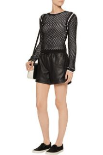 Ivonne leather shorts  Karl Lagerfeld
