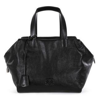 catalog product l o loewe origami cubo 30 black leather handbag 359