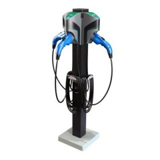 TurboDock 20 ft. 16 Amp 120/240 Volt Commercial/Workplace EV Charging Stations with Triple Pedestal 20088 020, Triple Ped.