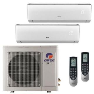 GREE Multi 21 Zone 24,000 BTU 2 Ton Ductless Mini Split Air Conditioner with Heat, Inverter, Remote   208 230 Volt/60Hz MULTI24HP202