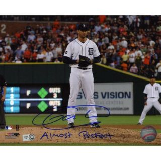 MLB - Armando Galarraga Detroit Tigers - Action - Autographed 8x10 Photograph with Almost Perfect Inscription