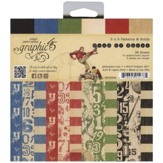 Good Ol Sport Double Sided Paper Pad 8X8 24 Sheets  12 Designs, 2ea