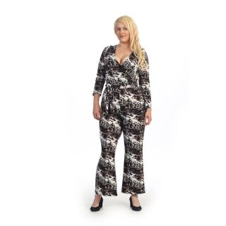 Plus Size Animal Print Jumpsuit   17415661   Shopping