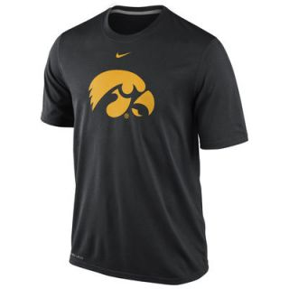 Nike Iowa Hawkeyes Logo Legend Dri FIT Performance T Shirt   Black