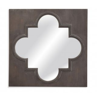 Bassett Mirror M3741EC Belgian Modern Boden Wall Mirror in Distressed Grey