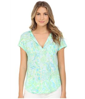 Lilly Pulitzer Duval Top Pool Blue Any Fins Possible, Blue