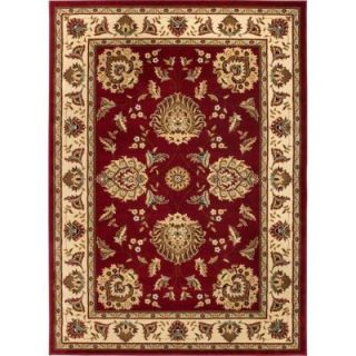Well Woven Timeless Abbasi Red 9 ft. 2 in. x 12 ft. 6 in. Traditional Area Rug 36008