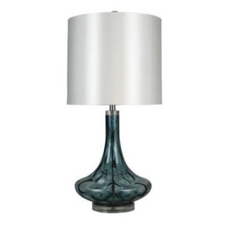 StyleCraft Maya Blue Swirl Glass Table Lamp