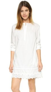Derek Lam 10 Crosby Pintuck Dress with Lace