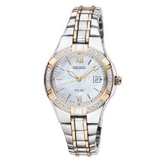 Seiko Ladies Diamond Two Tone Solar Watch