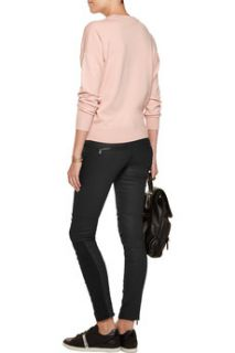 Cara Delevingne coated low rise skinny jeans