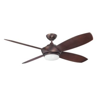 Kendal Lighting 52 Zeta 4 Blade Ceiling Fan with Wall Remote