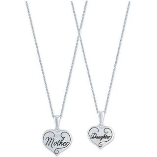 Connection from Hallmark Mother and Daughter Breakaway Pendant in Stainless Steel, 18""