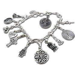 Sterling Silver Good Karma Charm Bracelet (Thailand)