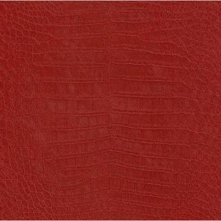 Washington Wallcoverings African Queen II 56 sq. ft. Deep Red Crocodile Textured Vinyl Wall Paper AQ474114