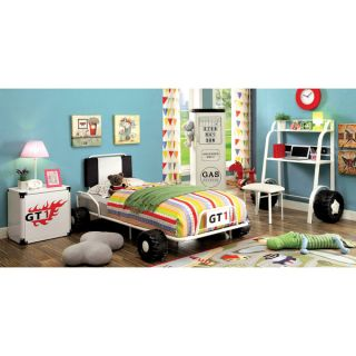 Furniture of America Jamie Metal 5 piece Racing Twin size Bedroom Set