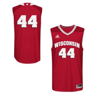 Wisconsin Badgers adidas March Madness #44 Replica Basketball Jersey   Cardinal
