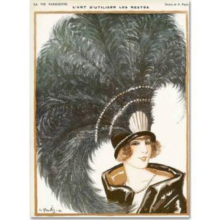 "Trademark Fine Art ""La Vie Parisienne"" Canvas Art by Vintage Apple Collection"