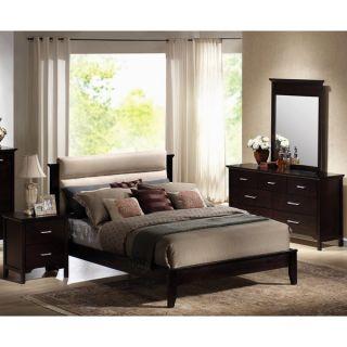 Andrea 5 piece Dark Mahogany Platform Bed and Bedroom Set   16133071