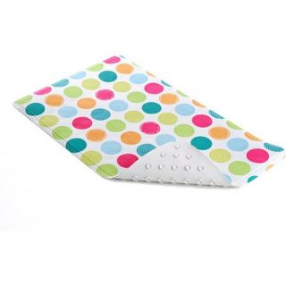 "Con Tact Brand Colorful Spots Printed Rubber Bath Mat, 2'3.75"" x 1'3.25"""