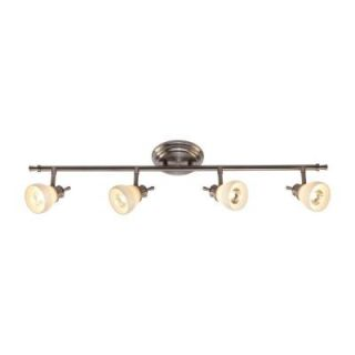 Hampton Bay 4 Light Satin Nickel Directional Ceiling or Wall Track Lighting Fixture RB169 C4