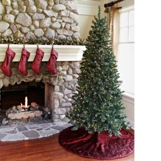 Embroidered Taffeta Christmas Tree Skirt by Nest Noel