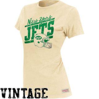 Mitchell & Ness New York Jets Womens Vintage Graphic Premium T Shirt   Natural