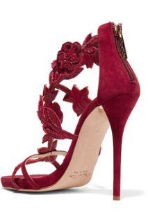 Tatum embellished suede sandals  Oscar de la Renta