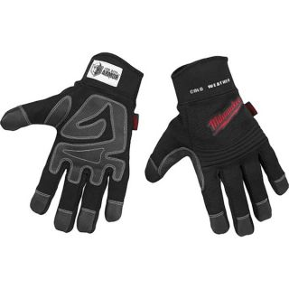 Isotoner Mens Knit and Leather Cold weather Gloves with Thinsulate