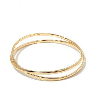 """Sevilla Silver with Technibond® """"X"""" Negative Space Bangle Bracelet   7959995"""