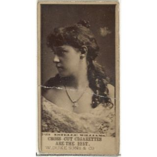 Card Number 723 Estelle Williams from the Actors and Actresses series (N145 3) issued by Duke Sons & Co. to promote Cross Cut Cigarettes Poster Print (18 x 24)