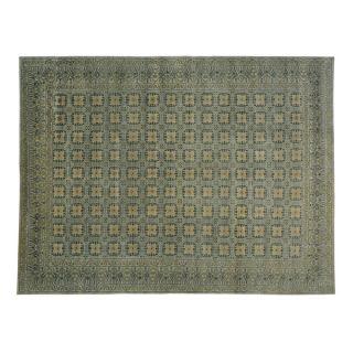 Hand knotted Khotan Design 100 percent Wool Stone Wash Area Rug (9 x