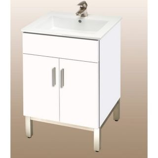 Empire Industries DM21 20WM Daytona 21 Two Doors Vanity in White Matte for Milano Ceramic Sink Top