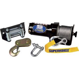 Superwinch 12 Volt ATV Winch — 2000-Lb. Capacity, Wire Rope, Model# 1120210  ATV Winches