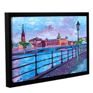 ArtWall Stockholm City View by Marcus/Martina Bleichner Floater Framed