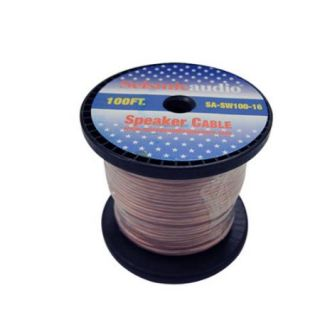 Seismic Audio   100 Foot Spool of Speaker Wire   16 Gauge   New   Home Audio Red   SA SW100 16
